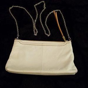 Hobo crossbody bag with chain strap